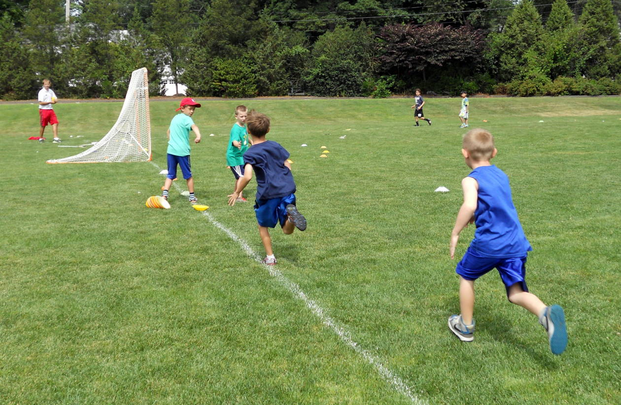 Another Great Day In Sports Camp Esf Summer Camps Greenwich Academy Basic Skills Relay Race Lacrosse Campers Improved On Their Agility And Communication Races Had Running As Fast They Could Emphasized The