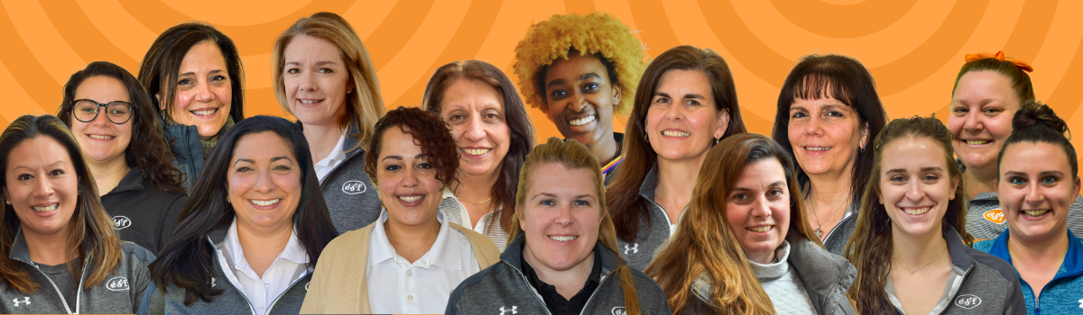 Group of diverse women working at ESF